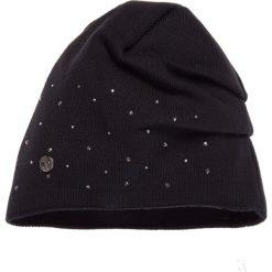 Czapki damskie: Czarna czapka z ozdobami QUIOSQUE