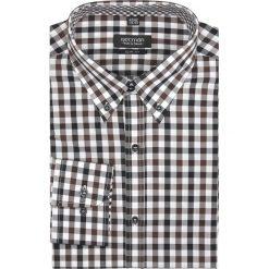 Koszula croft 2133 długi rękaw slim fit brąz. Szare koszule męskie slim marki Recman, m, z długim rękawem. Za 89,99 zł.