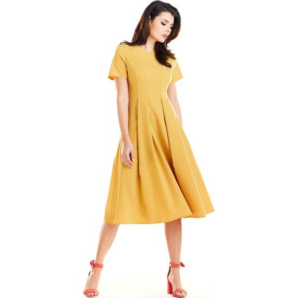 17c7665e49 Żółte sukienki damskie ze sklepu Molly - Zniżki do 70%! - Kolekcja wiosna  2019 - myBaze.com