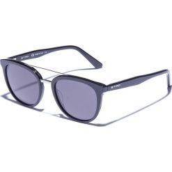Okulary przeciwsłoneczne męskie aviatory: Okulary męskie w kolorze czarno-szarym