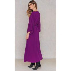 NA-KD Boho Sukienka-płaszcz - Purple. Niebieskie sukienki boho marki NA-KD Boho, na imprezę, w koronkowe wzory, z koronki, na ramiączkach, mini. Za 60,95 zł.