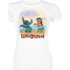 Lilo & Stitch Aloha Dance Koszulka damska biały. Białe t-shirty damskie Lilo & Stitch, xxl. Za 74,90 zł.