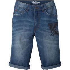 """Jeansy dziewczęce: Bermudy dżinsowe z wywiniętymi nogawkami bonprix niebieski """"stone"""""""