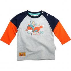 Koszulka w kolorze szaro-pomarańczowym. Brązowe t-shirty chłopięce z długim rękawem Gelati. W wyprzedaży za 39,95 zł.