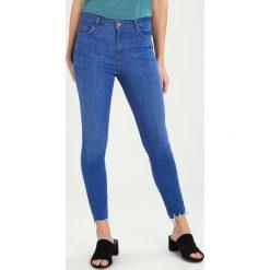 New Look HIGHRISE FRAY Jeans Skinny Fit bright. Czarne jeansy damskie marki New Look, z materiału, na obcasie. W wyprzedaży za 188,10 zł.