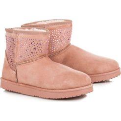 Różowe śniegowce KAIA. Czerwone buty zimowe damskie Merg. Za 79,90 zł.