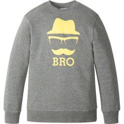 Bluza z nadrukiem bonprix szary melanż. Szare bluzy chłopięce rozpinane marki bonprix, m, melanż. Za 37,99 zł.