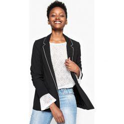 Bluza piżamy. Czarne piżamy damskie La Redoute Collections, z elastanu, z długim rękawem. Za 220,46 zł.