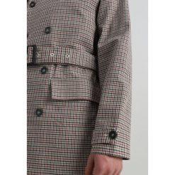 Topman DOGTOOTH CHCK  Płaszcz wełniany /Płaszcz klasyczny light brown. Brązowe płaszcze na zamek męskie Topman, m, z bawełny, klasyczne. Za 419,00 zł.