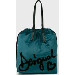 Desigual - Torebka. Szare torebki klasyczne damskie Desigual, z materiału, duże. Za 299,90 zł.