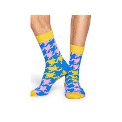 Skarpetki Happy Socks  DGT01-2000. Szare skarpetki męskie Happy Socks, z bawełny. Za 24,43 zł.