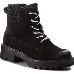 Trapery TAMARIS - 1-25214-21 Black Comb 098. Czarne buty zimowe damskie Tamaris, z materiału. Za 349,90 zł.