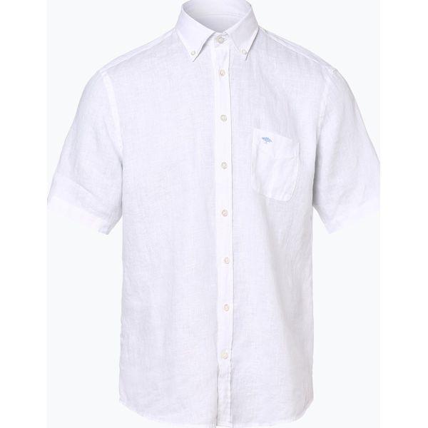 05fe7e376bda11 Fynch Hatton - Męska koszula lniana, biały - Białe koszule męskie  Fynch-Hatton, m, bez wzorów, z tkaniny, klasyczne, z klasycznym  kołnierzykiem, ...
