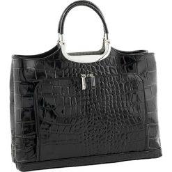 Torebki klasyczne damskie: Skórzana torebka w kolorze czarnym – 37 x 37 x 10 cm