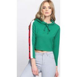 Bluzy damskie: Zielona Bluza Cryptic