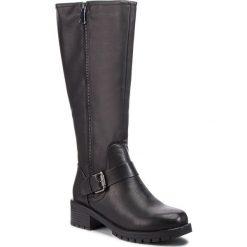 Oficerki JENNY FAIRY - WS2707-04 Czarny. Czarne buty zimowe damskie Jenny Fairy, ze skóry ekologicznej, na obcasie. Za 149,99 zł.