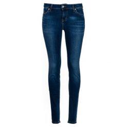 Mustang Jeansy Damskie Jasmin Jeggins 29/32 Ciemnoniebieski. Niebieskie jeansy damskie marki Mustang, z aplikacjami, z bawełny. Za 400,00 zł.