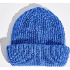 Czapka beanie - Niebieski. Niebieskie czapki zimowe damskie Sinsay. Za 19,99 zł.