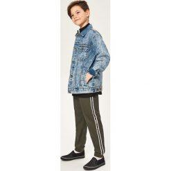 Odzież dziecięca: Spodnie jogger z lampasami - Khaki