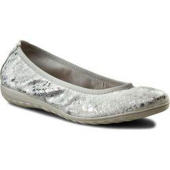 Baleriny damskie lakierowane: Baleriny CAPRICE - 9-22142-28 Silver Metal. 920