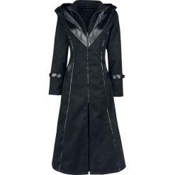 Poizen Industries Corvina Coat Płaszcz damski czarny. Czarne płaszcze damskie pastelowe Poizen Industries, s, z polaru. Za 569,90 zł.