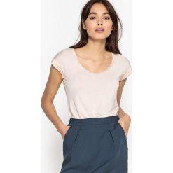T-shirty damskie: Gładki T-shirt z okrągłym dekoltem, krótki rękaw