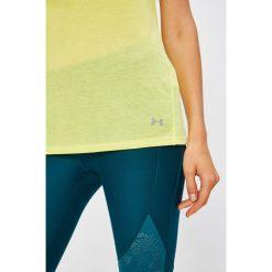 Under Armour - Top. Szare topy sportowe damskie marki Under Armour, l, z dzianiny, z okrągłym kołnierzem. W wyprzedaży za 89,90 zł.