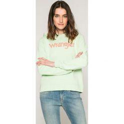Wrangler - Bluza. Szare bluzy rozpinane damskie Wrangler, m, z nadrukiem, z bawełny, z kapturem. W wyprzedaży za 169,90 zł.