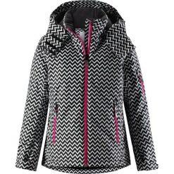 Reima Glow Black 128 Cm. Czarne kurtki dziewczęce przeciwdeszczowe Reima, w geometryczne wzory. W wyprzedaży za 339,00 zł.