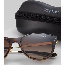 VOGUE Eyewear Okulary przeciwsłoneczne brown gradient. Brązowe okulary przeciwsłoneczne damskie aviatory VOGUE Eyewear. Za 459,00 zł.