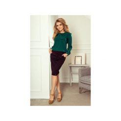 BLUZKA KOSZULA Z WIAZANIEM ZIELEŃ BUTELKOWA. Zielone bluzki nietoperze marki Dressroad, m, z jeansu. Za 149,99 zł.