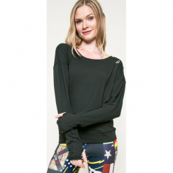 Reebok - Bluza. Czarne bluzy sportowe damskie marki Cardio Bunny, s, z nadrukiem, z bawełny, bez kaptura. W wyprzedaży za 129,90 zł.