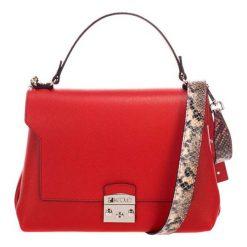 Torebki klasyczne damskie: Skórzana torebka w kolorze czerwonym – (S)27 x (W)26 x (G)17 cm
