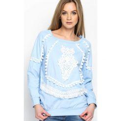 Bluzy damskie: Niebieska Bluza Pocahontas