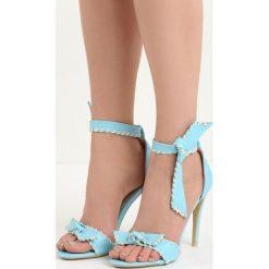 Błękitne Sandały Mercy. Niebieskie sandały damskie marki Born2be, na wysokim obcasie. Za 69,99 zł.