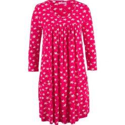 Sukienka shirtowa z nadrukiem bonprix czerwień granatu wzorzysty. Czerwone sukienki z falbanami marki Mohito, l, z weluru. Za 49,99 zł.