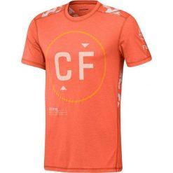 Reebok Koszulka męska CrossFit Burnout Tee pomarańczowa r. M (BJ9846). Pomarańczowe koszulki sportowe męskie marki Reebok, z dzianiny, sportowe. Za 202,00 zł.
