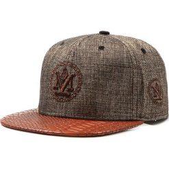 Czapka męska snapback brązowa (hx0199). Brązowe czapki z daszkiem męskie Dstreet, z haftami, eleganckie. Za 69,99 zł.