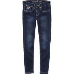 Dżinsy krój slim, 8-16 lat. Czarne spodnie chłopięce Pepe Jeans, z aplikacjami, z bawełny. Za 196,31 zł.