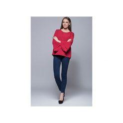Bluzka z szerokimi rękawami-czerwona. H030. Czerwone bluzki damskie marki Harmony, xxl, eleganckie. Za 135,00 zł.