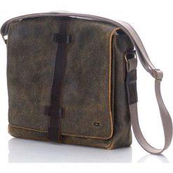 Torby na ramię męskie: Skórzana torba na ramię brąz JAZZY RISK UP 137 – MONDELLO MIA