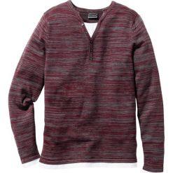 Sweter Regular Fit bonprix czerwony melanż. Czerwone swetry klasyczne męskie marki bonprix, l, melanż. Za 74,99 zł.