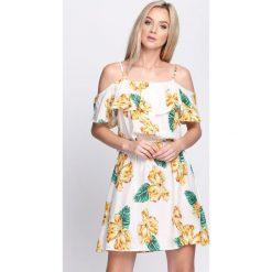 Sukienki: Biała Sukienka Hawaiian Ti