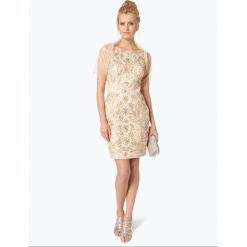 Sukienki: Niente – Damska sukienka wieczorowa z etolą, beżowy