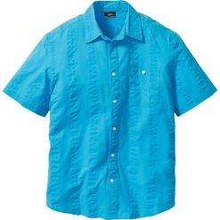 Koszule męskie na spinki: Koszula z kory Regular Fit bonprix turkusowy