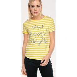 Odzież damska: Koszulka w kolorze żółto-białym