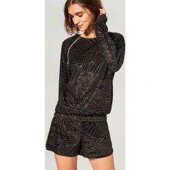 Piżama z szortami - Czarny. Czarne piżamy damskie marki Reserved, l. Za 99,99 zł.