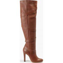 Kozak brązowy Pia. Brązowe buty zimowe damskie Badura. Za 455,99 zł.
