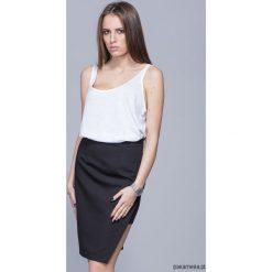 Spódnice wieczorowe: Asymetryczna elegancka spódnica-czarna H018