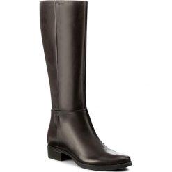 Oficerki GEOX - D Mendi St P D3490P 00043 C6009 Coffee. Brązowe buty zimowe damskie marki Kazar, ze skóry, przed kolano, na wysokim obcasie. W wyprzedaży za 429,00 zł.